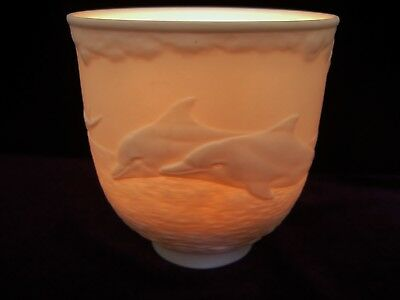1998 Collectors Society Lladro Lithophane DOLPHIN White Bisque Porcelain Perfect