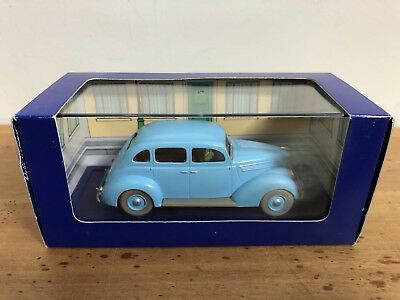 Tintin Model Car Ford Taxi Seven Crystal Balls Toy Comic Herge Boxed + Book