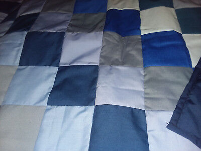 Hand made blue baby quilt