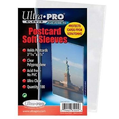 1000 Standard Ultra Pro Postcard Sleeves 3.68 X 5.75 Archival Safe Acid Free