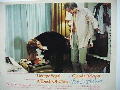 Lobby Card  A Touch Of Class w/George Segal and Glenda Jackson SIGNED BY Glenda