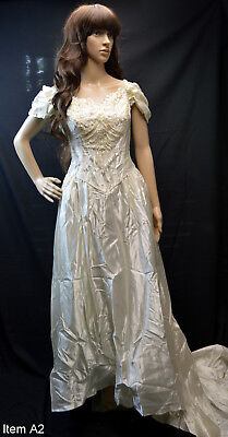 satin vintage wedding dress