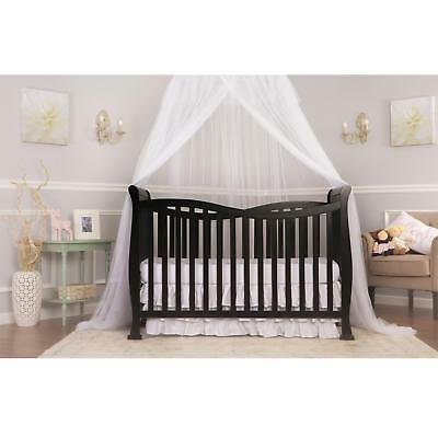 Dream On Me Violet 7-In-1 Convertible Life Style Crib Black