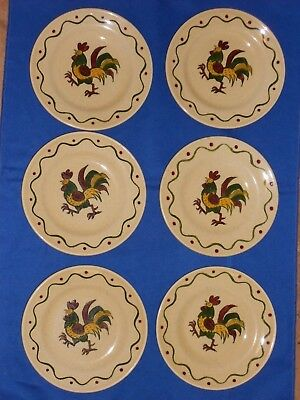 California Provincial By Metlox Set Of 6 Bread & Butter Plates 6 3/8 Inch