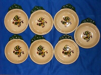 California Provincial By Metlox Set Of 7 Individual Open Soup Servers 6 1/4 Inch