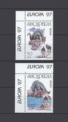 ALBANIA, EUROPA CEPT 1997, TALES & LEGENDS with MARGINS, MNH