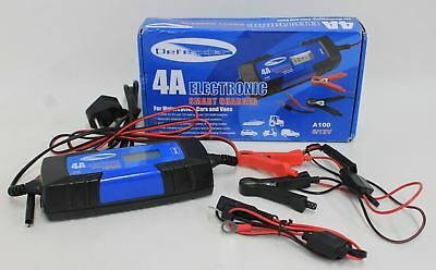 NEW DEFENDER 4A Electronic Automatic 6V/12V Car Motorbike Battery Smart Charger