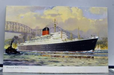 Boat Ship Cunard RMS Laxenia Postcard Old Vintage Card View Standard Souvenir PC