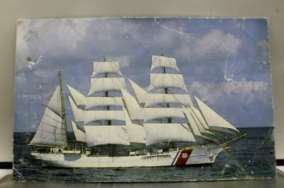 Boat Ship US Coast Guard Eagle Postcard Old Vintage Card View Standard Souvenir