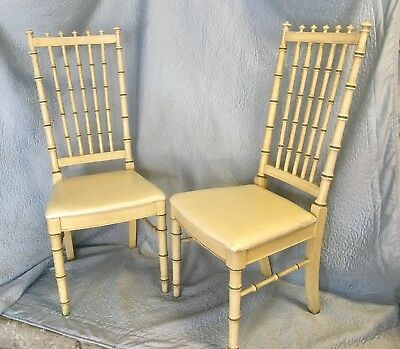Set Of Two Thomasville Allegro Faux Bamboo Chairs
