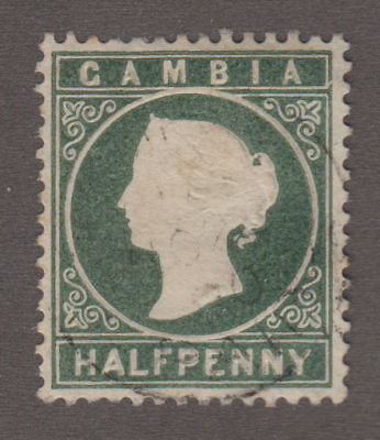 Gambia - 1887 1/2 Penny Green. Sc. #12, SG #21. Used