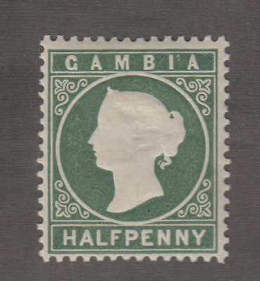 Gambia - 1887 1/2 Penny Green. Sc. #12, SG #21. Mint