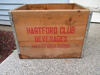 Hartford Club Beverages Hartford, Conn Wood Box- Wood By Dunning Corporation