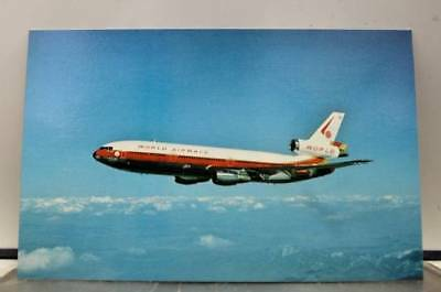 Aircraft World Airways Jetliner Postcard Old Vintage Card View Standard Souvenir