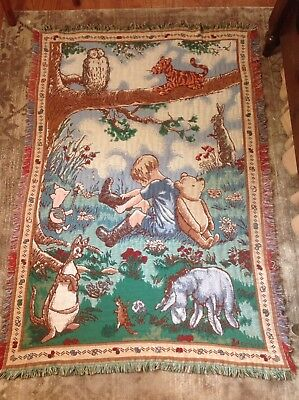 Classic Winnie The Pooh | Piglet Eeyore Tigger | Tapestry Woven Throw Blanket