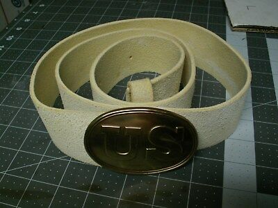 "Mexican War 2"" Wide Rifle Belt made with Buff Leather / USA made belt plate"