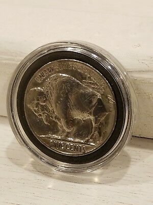 1937 US Buffalo Indian Nickel Antique Coin USA 5 Cent Polished lusterw/capsule