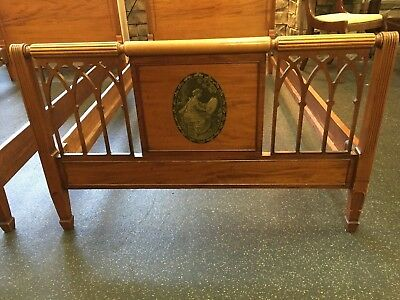 Pair of Antique Twin Beds with Cameo Pictures P/U Atlanta