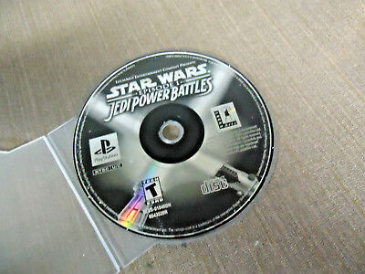 Sony PlayStation 1 PS1 PSX Disc Only Star Wars Episode I Jedi Power Battles GH