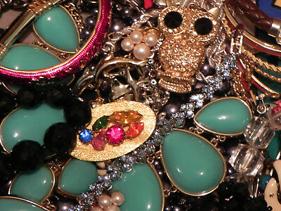 Estate Sale Lot of Vintage to Modern Jewelry, Untested, #690 Some Signed