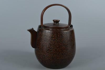 R3802: Japanese Copper WATER JUG Teapot Mizutsugi Suichu, Kinshodo made