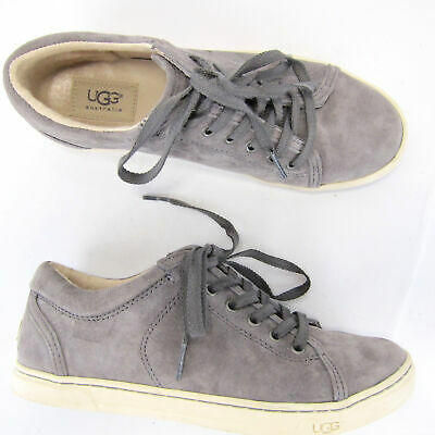 5600d05662b UGG AUSTRALIA WOMENS 1005484 White Black Tomi Sneaker Lace Up Suede ...