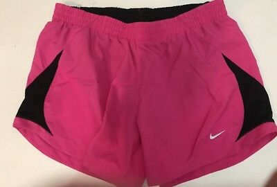 Nike DRI-FIT Athletic Shorts Women's Running/ Fitness Built in Underwear Size M
