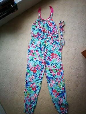 Girl's flowery Monsoon jumpsuit 11 years in good condition