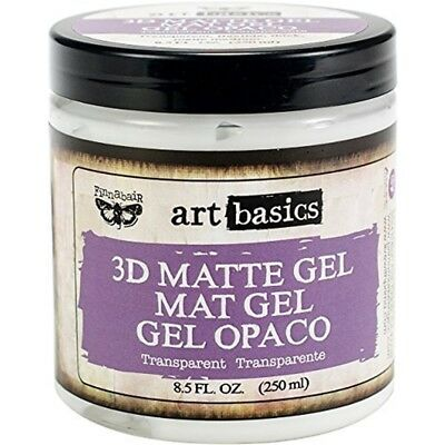 Prima Marketing Finnabair Art Basics 3d Matte Gel 8 Oz-transparent -