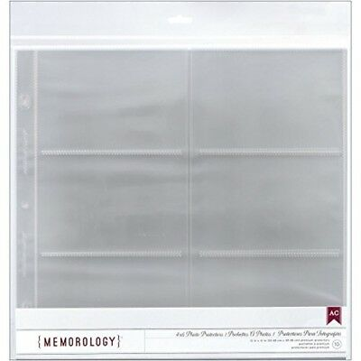 "American Crafts Side-loading Page Protectors 12""x12"" 10/pkg-(6) 6""x4"" Pockets -"