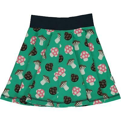 Maxomorra Mushroom Print Spin Skirt Organic Cotton Scandi