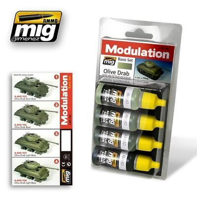 Ammo Of Mig Set Modulation Colour Olive Drab Cod.amig7003
