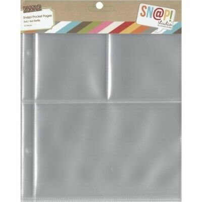 Simple Stories 2005 Snap Pocket Pages For 6 x 8-inch Binders, Multi-colour, -