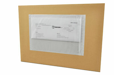 "2000 Reclosable Packing List 6"" x 6"" Envelopes Shipping Supplies Back Side Load"