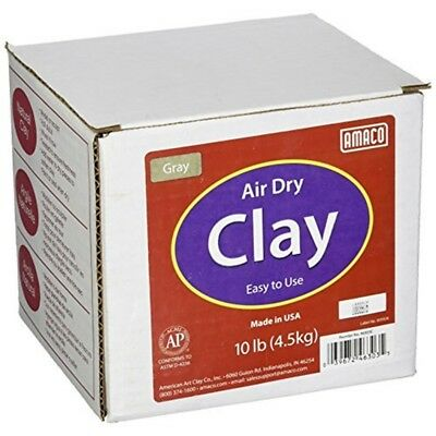 Amaco 4630-3c Air Dry Modeling Clay, 10-pound, Gray - Air Clay 10lb