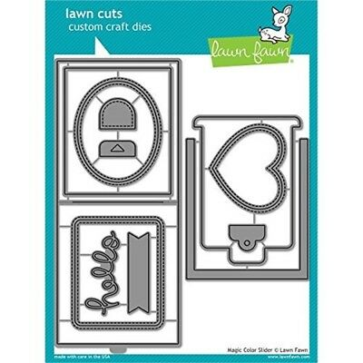 Lawn Fawn Lawn Cuts Cutting Die Set ~ MAGIC COLOR SLIDER Color-Change ~ LF1438