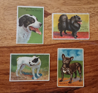 "4 Various ""KHEDIVIAL CO.,NYC,USA-PRIZE DOG SERIES"" Trading Cards #E-287 (TC-115)"