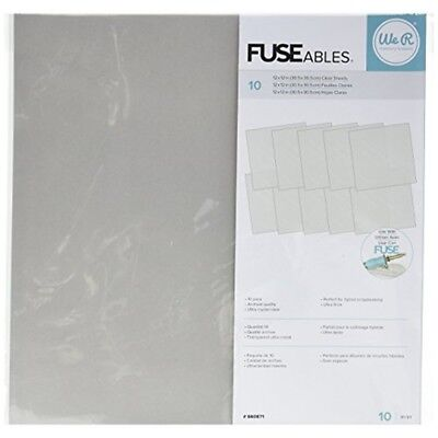"""We R Memory Keepers 10 Piece Fuseables Clear Sheets, 12 x 12"""" - Fuse Sheets"""