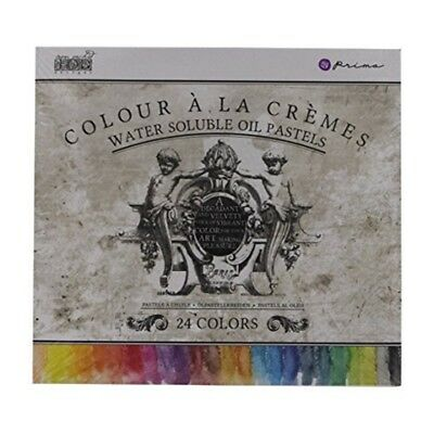 Prima Marketing Water Soluble Oil Pastel Assorted Color Crayons (box Of 24) -