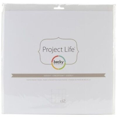 Project Life 380009 Photo Pocket Pages - Design F - 12 Pack - Divided Page