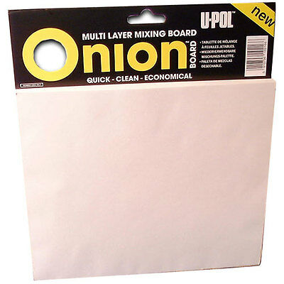 U-pol Body Filler Multi-Layer Onion Mixing Board UPOL