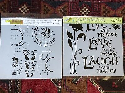 The Crafters Workshop TCW Mixed Media 12x12 Stencils