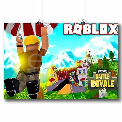 Roblox Fortnite Battle Royale Custom Poster Print Art Wall Decor