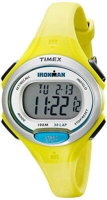 Timex Women's Ironman Essential 30 Lap Digital 100m Lime Resin Watch TW5K90200