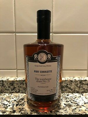 "Malts of Scotland ""The Warehouse Dram No. 21"" Port Charlotte MoS 17048 Whisky"