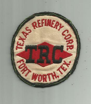 1950's VINTAGE TEXAS REFINERY CORP FORT WORTH TX PATCH OLD TWILL 3 1/2 INCHES