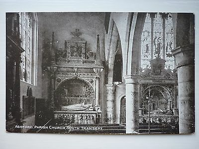 Picture Postcard, Ashford Parish Church, South Transept, by Photochrom. Unused.