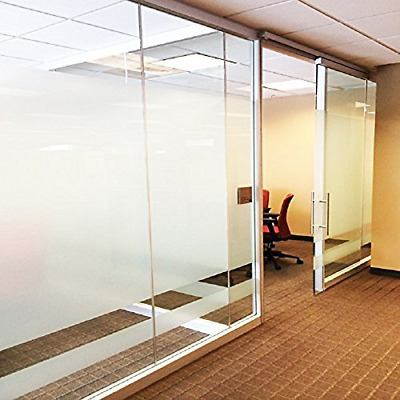 """Privacy Window Film Frosted Non Adhesive No Glue Static Cling 2 Roll 17.7""""x78.7"""""""