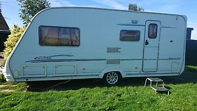 Sterling Eccles Emerald 4 Berth Touring Caravan End Washroom - M/Mover - Awning