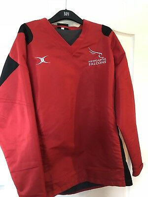 Newcastle Falcons Player Rugby Staff Issue Waterproof Training Top